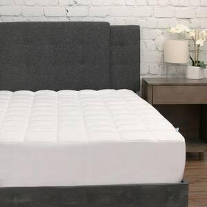 White Twin XL Pillow Top Microfiber Mattress Pad