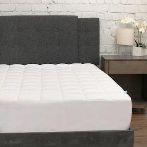 White Twin Pillow Top Microfiber Mattress Pad