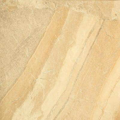 Ayers Rock Golden Ground 6-1/2 in. x 6-1/2 in. Glazed Porcelain Floor and Wall Tile (11.39 sq. ft. / case)