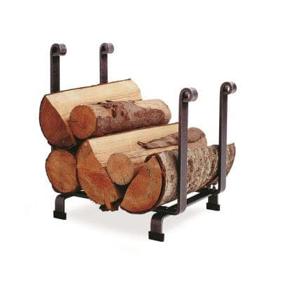 Handcrafted Hearth Firewood Rack Hammered Steel