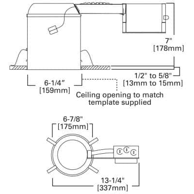 H750 6 in. Aluminum LED Recessed Lighting Housing for Remodel Ceiling, T24 Compliant, IC Rated, Air-Tite (6-Pack)