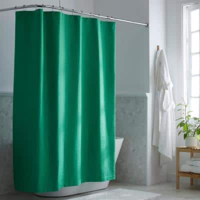 Company Cotton 72 in. Kelly Green Shower Curtain