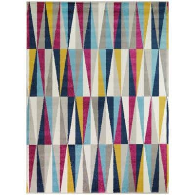 Casson Multicolor 8 ft. x 10 ft. Contemporary Geometric Area Rug