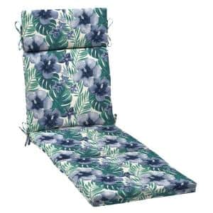 21 in. x 29.5 in. Outdoor Chaise Lounge Cushion in Salome Tropical