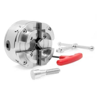 3.75 in. 4-Jaw Self-Centering Lathe Chuck Set with 1 in. x 8TPI Thread