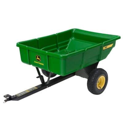 450 lb. 7 cu. ft. Tow Behind Poly Utility Cart Dump Trailer with Universal Hitch