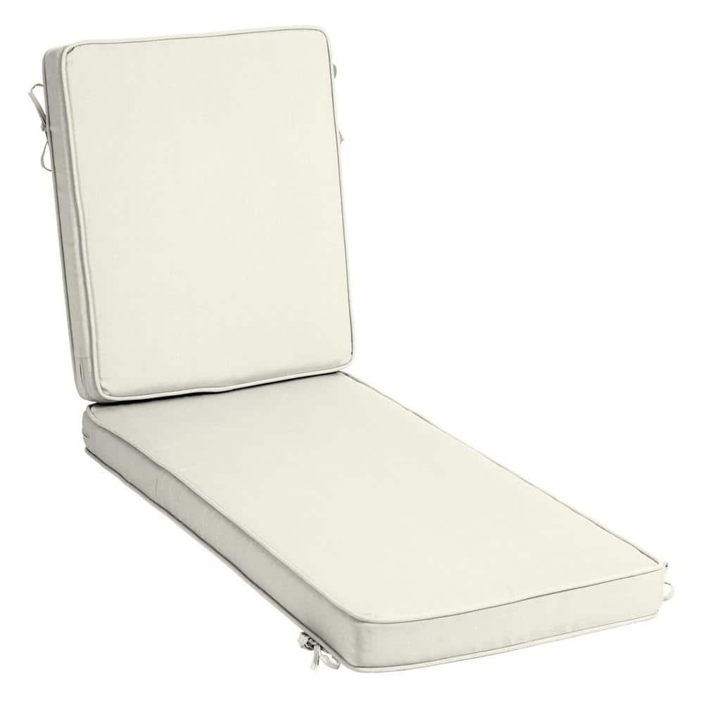 Ambientehome 195 x 49 x 8 cm Padded Deck Chair Lounger Cotton Cushion Green
