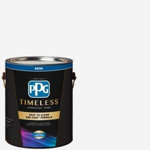 Ppg Timeless 1 Gal Pure White Base 1 Satin Interior Paint With Primer Ppg83 410 01 The Home Depot
