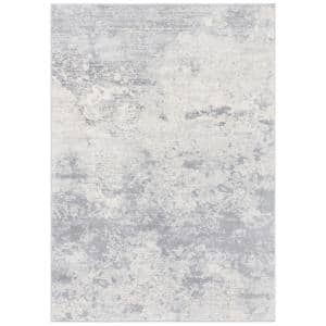 Brentwood Gray/Ivory 9 ft. x 12 ft. Area Rug