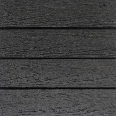 UltraShield Naturale 1 ft. x 1 ft. Quick Deck Outdoor Composite Deck Tile Sample in Hawaiian Charcoal