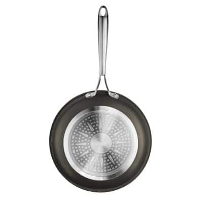 12 in. Platinum Cast Textured Aluminum Ti-Ceramic Nonstick Frying Pan