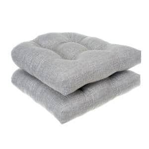 GREY -Storm Wicker Seat Cushion 2 Pack