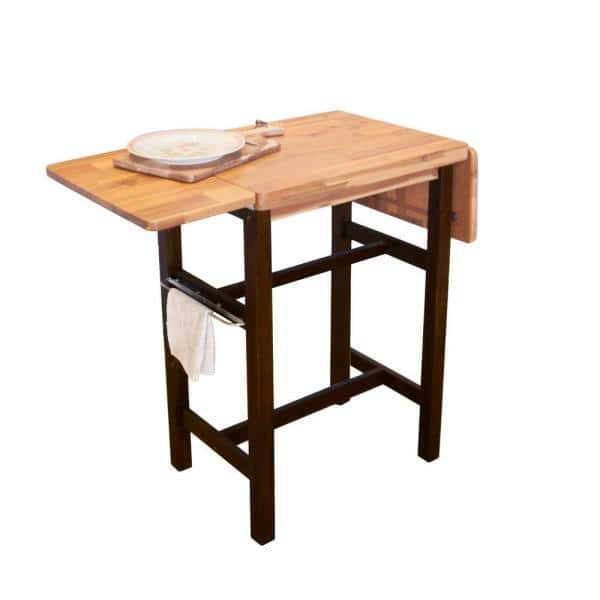 Northbeam 3 Piece Dual Toned Wood Kitchen Island Set With 2 Stools Tbs0330213300 The Home Depot