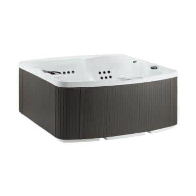 Leganza 6-Person 90-Jet 230-Volt Hot Tub in Arctic White/Coastal Gray with Lounge Seating