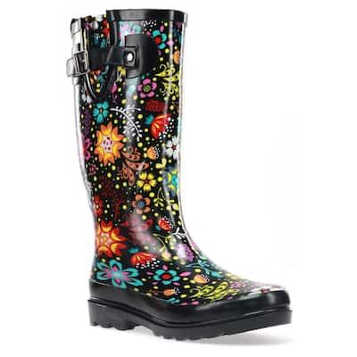Women's Size 6 Black Garden Play Rubber Boot