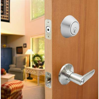 Olympic Stainless Steel Handle Combo Door Knob Set
