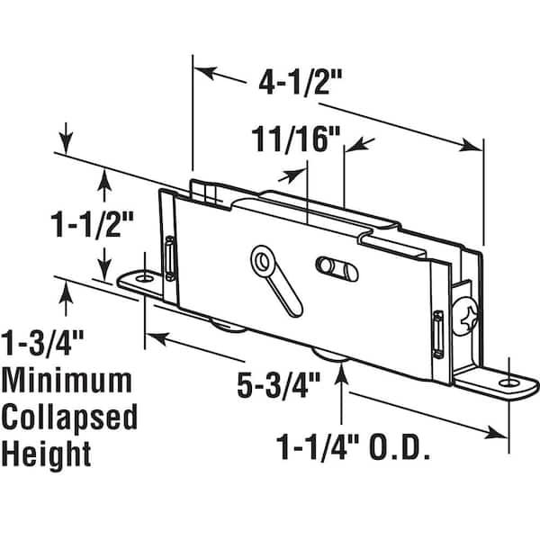 Rollapparat 2 Stk. f/ü r SLIDUP 1700-80 Schiebetorbeschlag f/ü r SLID/' UP 1700-80 Schiebetorbeschlag Slid/' Up by Mantion bis 80 kg Stahlrollen