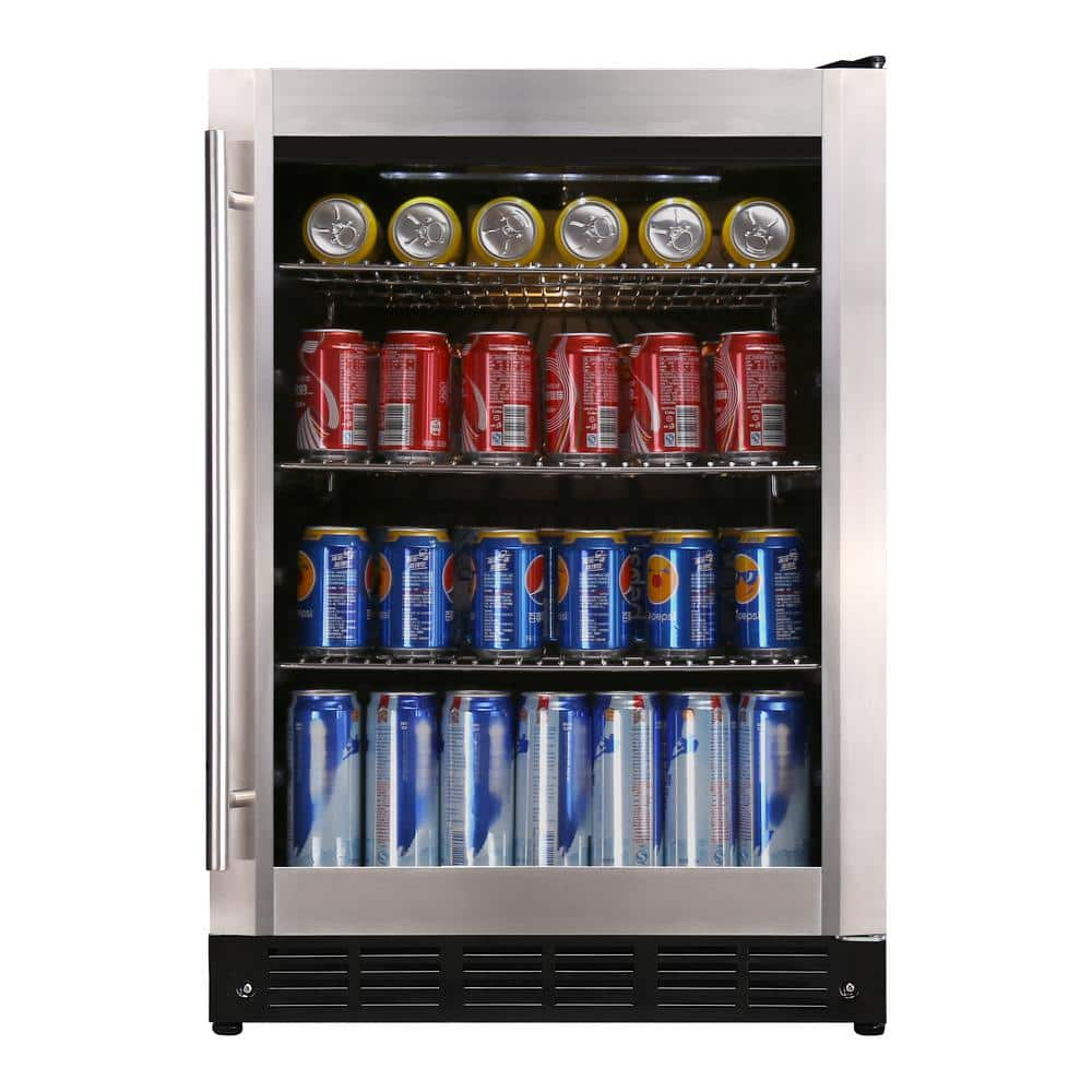 Magic Chef Beverage 23.4 in. 154 (12 oz.) Can Beverage Cooler, Stainless Steel-HMBC58ST - The Home Depot