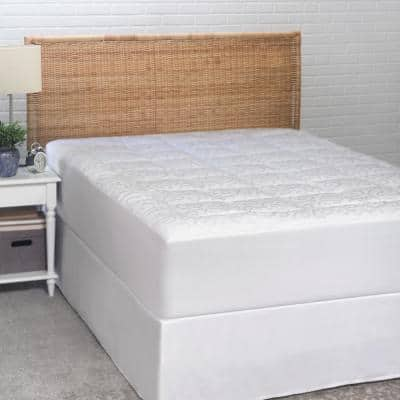 Candice Olson 300 Thread Count Jacquard Queen Mattress Pad