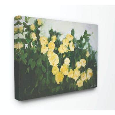 Stupell Industries 16 In X 20 In Abstract Rose Flower Bush Yellow Painting By Melissa Lyons Canvas Wall Art Fap 140 Cn 16x20 The Home Depot