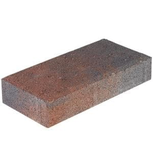 7.87 in. x 3.94 in. x 1.77 in. Red Charcoal Holland Concrete Paver