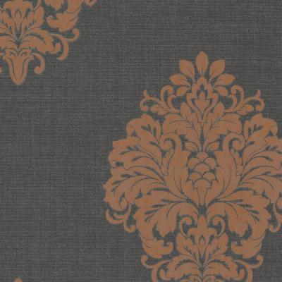 Duchess Orange Damask Paper Strippable Wallpaper (Covers 56.4 sq. ft.)