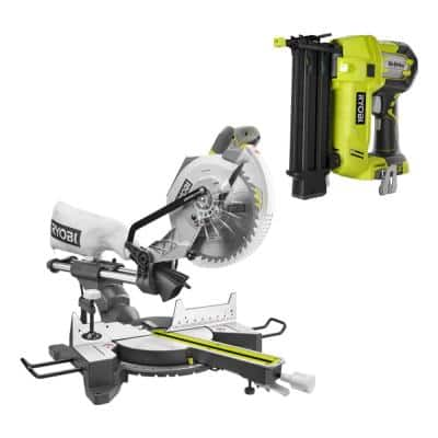 15 Amp 10 in. Sliding Compound Miter Saw and 18-Volt Cordless Airstrike ONE+ Brad Nailer