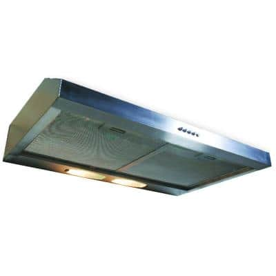 Builder Series 30 in. 190 CFM Under Cabinet Hood with Light in Stainless Steel