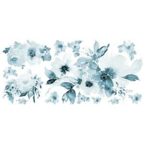 WATERCOLOR FLORAL GIANT PEEL & STICK WALL DECALS