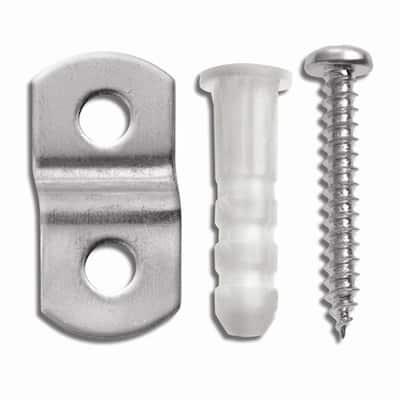 1/4 in. x 20 lb. Metal Mirror Holders (4-Pack)