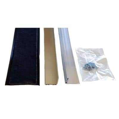 Rodent Block Garage Door Bottom Seal Kit with 1-3/8 in. Aluminum Retainer and EPDM Rubber Seal for Single Car Garage