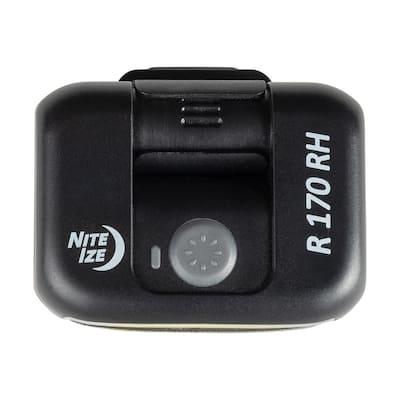 Radiant 170 Rechargeable Clip Light, Black