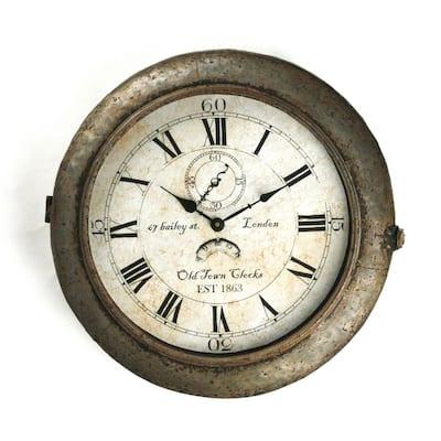 Rustic Iron Antique White Face Clock
