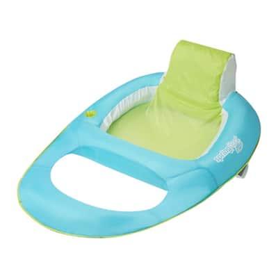 Aqua/Lime Vinyl Spring Float Inflatable Recliner Pool Lounger
