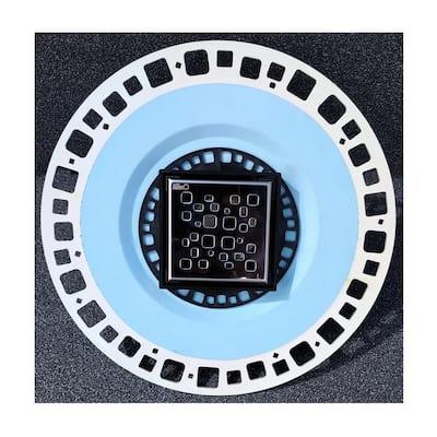 2-in-1 PVC Drain 4 in. x 4 in., Black