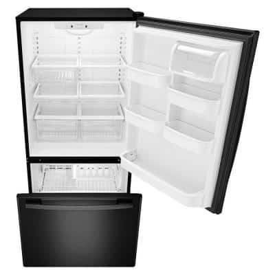 22.cu. ft. Bottom Freezer Refrigerator in Black