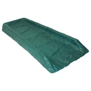 24 in. Hunter Green Natural Stone Textured Decorative Downspout Rain Splash Block