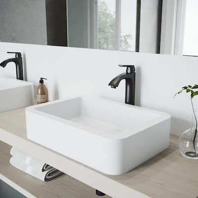 Linus Single-Handle Vessel Sink Faucet in Matte Black