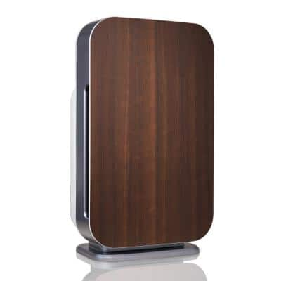 Customizable Air Purifier with HEPA-Silver Filter to Remove Allergies Mold and Bacteria in Espresso
