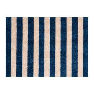 In-Home Washable/Non-Slip Cabana Navy 2 ft. 3 in. x 1 ft. 5 in. Area Rug & Mat