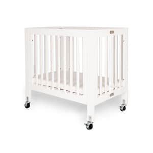 Olympia Mini/Portable White Folding Wood Crib