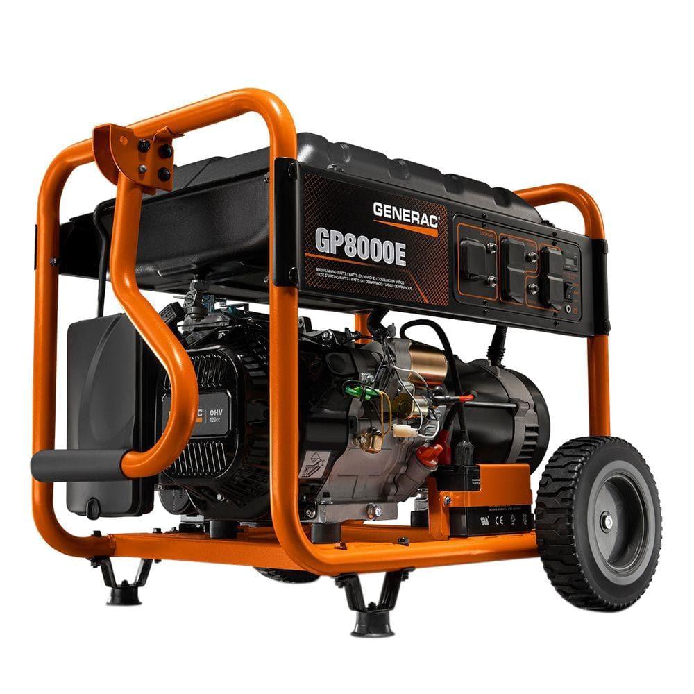 Generac 8,000-Watt Gasoline Powered Electric Start Portable Generator-6954  - The Home Depot | Generac 15000 Portable Generator Wiring Diagram |  | The Home Depot