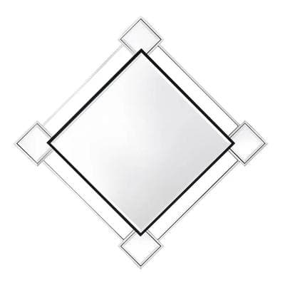 45 in. H x 45 in. W Modern Rectangle Framed Accent Mirror