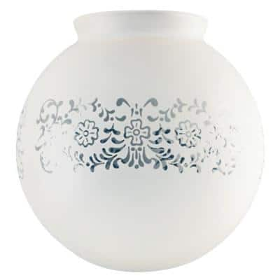 6 in. Hand-Blown Frosted Victorian Globe with 3-1/4 in. Fitter