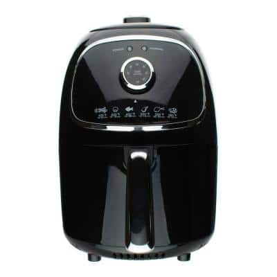 2 qt. Black Small Electric Air Fryer with Timer and Temperature Control