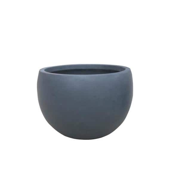 Kante 13 In Tall Charcoal Lightweight Concrete Round Outdoor Bowl Planter Rc0049c C60121 The Home Depot