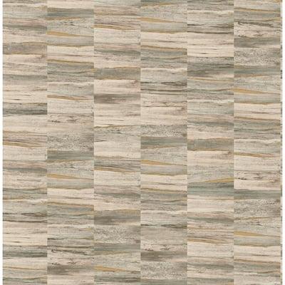 Hugo Neutral Faux Wood Neutral Wallpaper Sample