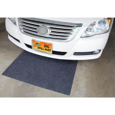 2.5 ft. x 5 ft. Charcoal Gray Polyester Garage Flooring (2-Pack)