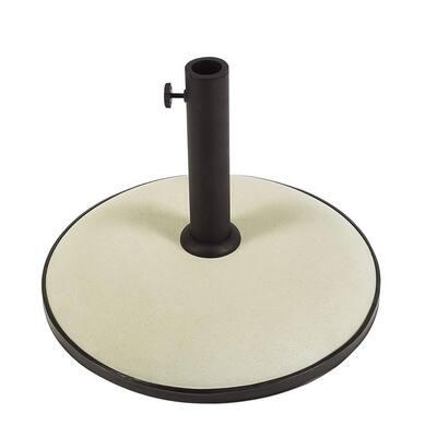 55 lb. Concrete Patio Umbrella Base in White