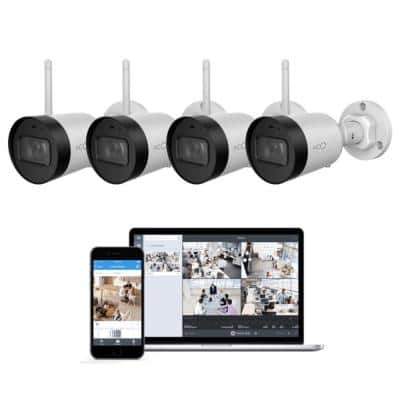 Pro Bullet Outdoor/Indoor 1080p Cloud Surveillance and Security Camera with Remote Viewing (4-Pack)